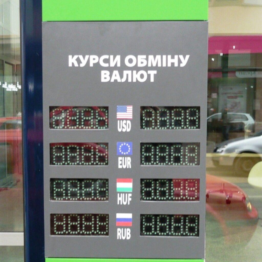 Курсы валют Динамическая реклама